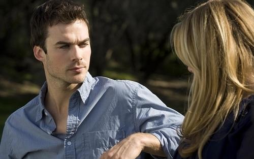 Ian and Wanda talking