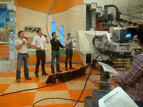 Il Divo rehearsales in Nhật Bản