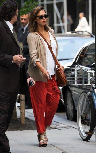 Jessica out in Manhattan