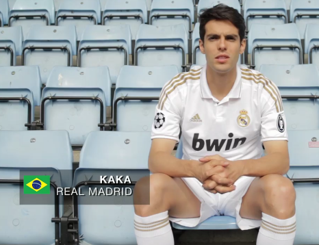 Kak   Wearing The New Kit 2011 2012 Of Real Madrid    Ricardo Kaka