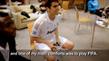 Kaka playing FIFA :) New photo.