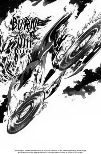 Air Gear wallpaper entitled Kazu Acitives the Flame Regalia & its Burning up