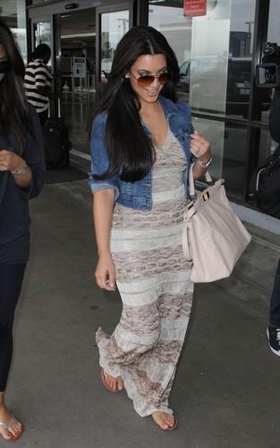 Kim Kardashian leaving LAX Airport (June 4).