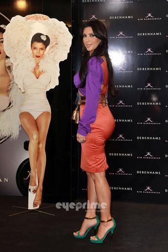 Kim Kardashian promotes her Fragrance in London
