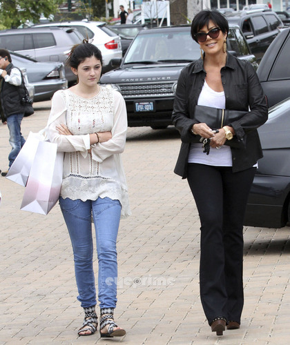 Kylie & Kris in Beverly Hills.