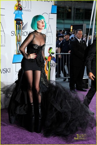 Lady Gaga wallpaper containing a hip boot called Lady Gaga - CFDA Fashion Awards 2011