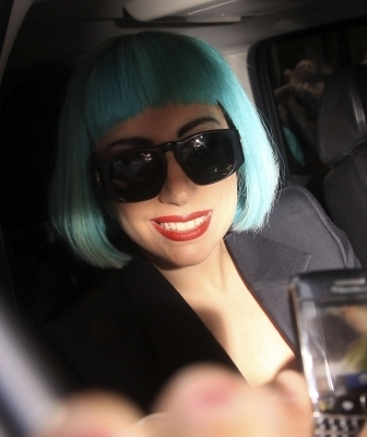 Lady Gaga Leaving Sirius radio bulding