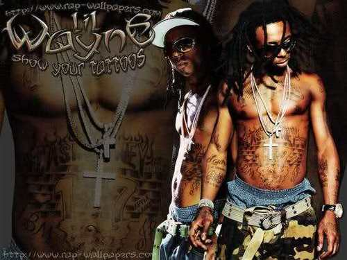 Lil' Wayne wallpaper probably containing a sign and a hip boot titled Lil Waynee ♥