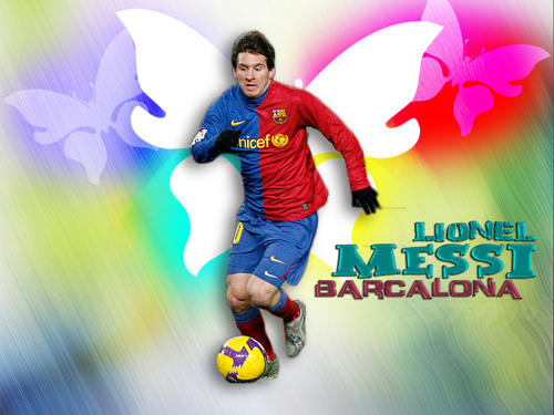 Lionel Andres Messi wallpaper possibly with a soccer ball entitled Lionel Messi FC Barcelona Wallpaper