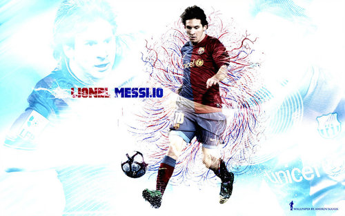 Lionel Andres Messi wallpaper probably with a sign called Lionel Messi FC Barcelona Wallpaper