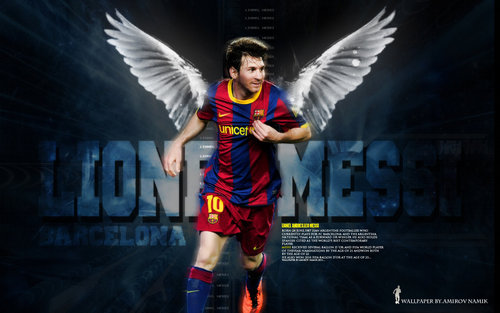 Lionel Andres Messi wallpaper possibly with a leotard titled Lionel Messi FC Barcelona Wallpaper