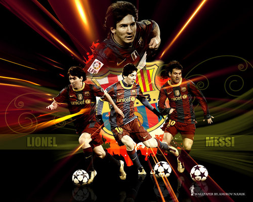 Lionel Andres Messi wallpaper probably with anime called Lionel Messi FC Barcelona Wallpaper