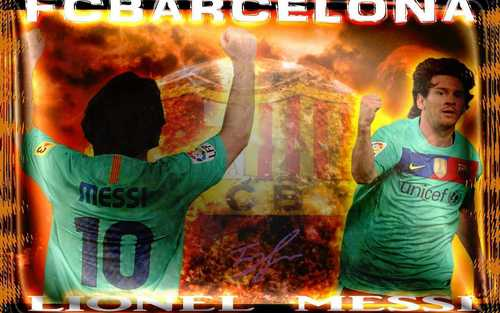 Lionel Andres Messi wallpaper with anime entitled Lionel Messi FC Barcelona Wallpaper