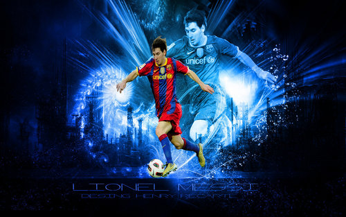 Lionel Andres Messi wallpaper possibly containing a fountain titled Lionel Messi FC Barcelona Wallpaper