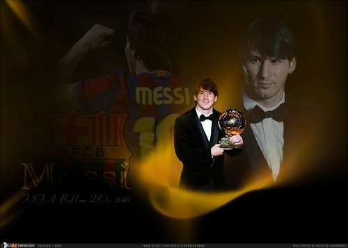 Lionel Messi FIFA Ballon d'Or 2010 پیپر وال