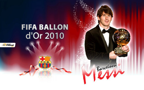 Lionel Messi FIFA Ballon d'Or 2010 Wallpaper