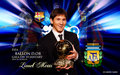 Lionel Messi FIFA Ballon d'Or 2010 Wallpaper - lionel-andres-messi wallpaper