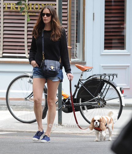 Liv Tyler takes her dog for a walk and shops in NYC, Jun 5