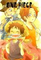 Luffy & Ace & Sabo  - one-piece photo