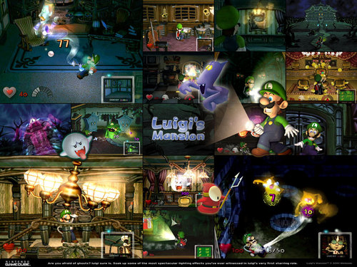 Nintendo wallpaper entitled Luigi's Mansion