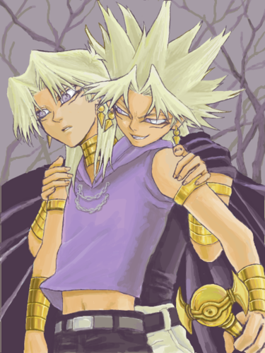 Yu-Gi-Oh fond d'écran with animé entitled Marik and his Yami