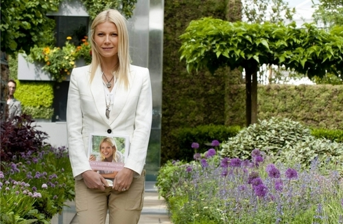 Gwyneth Paltrow wallpaper containing a business suit and a well dressed person entitled May 23 - The Chelsea fiore mostra in Londra