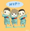 Messi, Villa and Pedro!