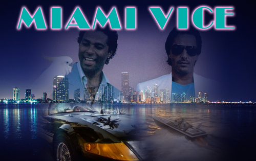 Miami Vice wallpaper with a street and a business district titled Miami Vice Montage