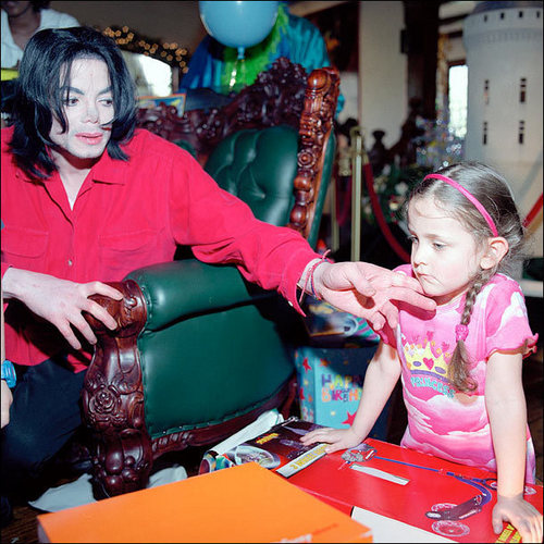 Michael is trying to comfort Paris in this photo. What happened?