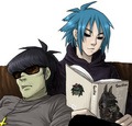 Murdoc and 2D - gorillaz fan art