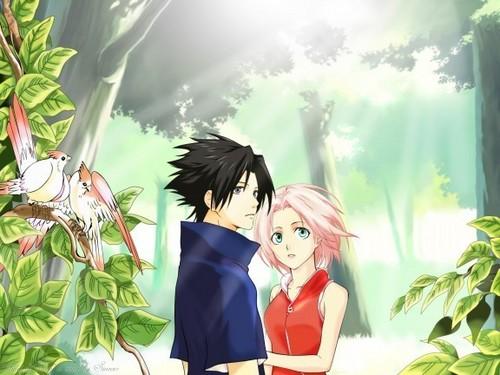 NARUTO -ナルト- sasuke and sakura