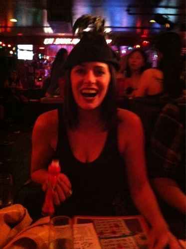 Paget playing Bingo :))