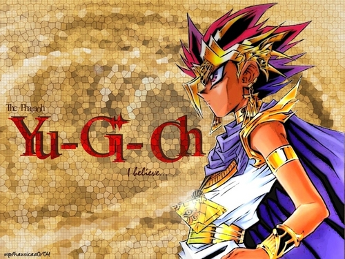 Yami Yugi karatasi la kupamba ukuta probably with anime entitled Pharaoh Atem