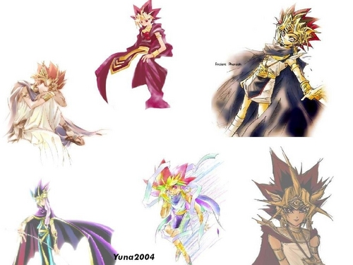 Yami Yugi fond d'écran containing a bouquet and a hippeastrum entitled Pharaoh Atem