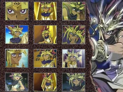 Yami Yugi karatasi la kupamba ukuta containing a stained glass window and anime called Pharaoh Atem