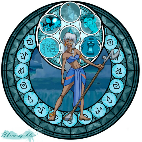 Princess Kida Stained Glass Window