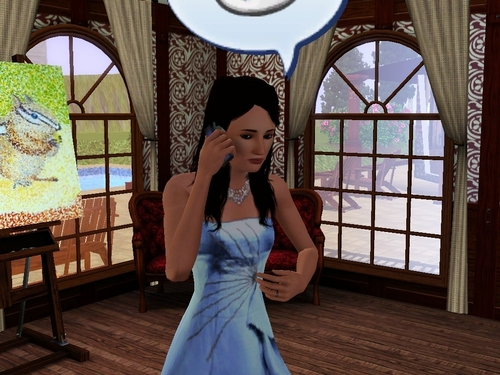 Princess Nancy on the Cellphone Sims 3