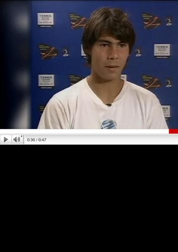 Rafa Nadal in 2003 :he looked alike as hero estrela wars !!!
