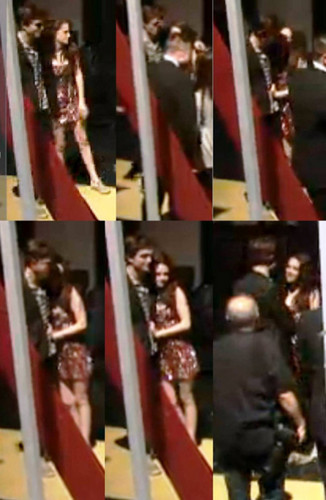 Rob and Kris Back Stage