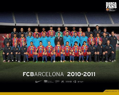 ФК Барселона Обои titled Season 2010/11 Squad