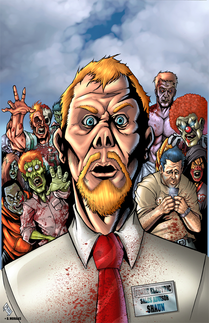 Shaun of the Dead tagahanga Art
