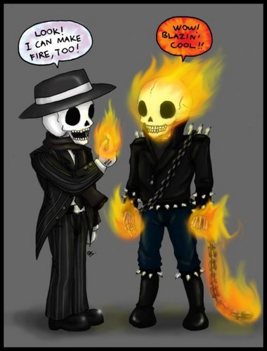 Skul and Ghost Rider