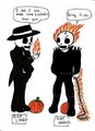 Skul and Ghost Rider - skulduggery-pleasant fan art