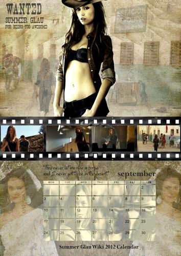Summer Glau Wiki 2012 Calendar