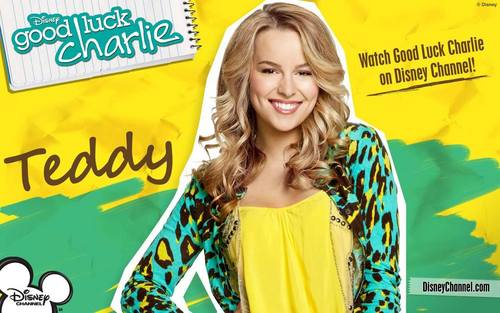 Good Luck Charlie wallpaper possibly containing a portrait and anime titled Wallpaper Teddy