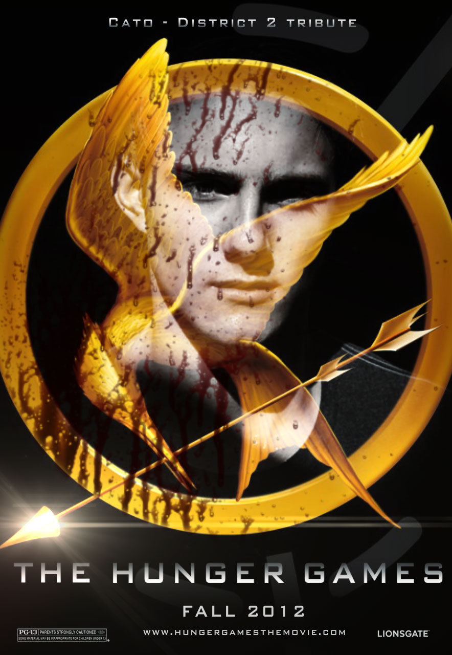 The hunger games fanmade movie poster cato the hunger games fan