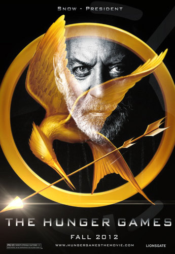 The Hunger Games fanmade movie poster - President Coriolanus Snow