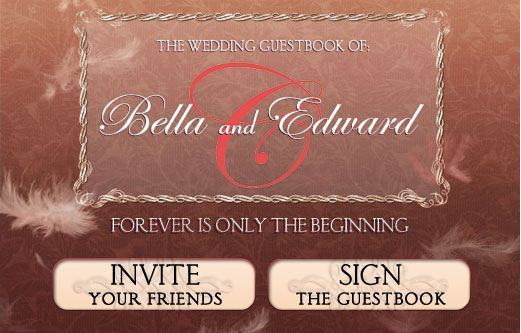 The Twilight Saga Wedding Guest Book on facebook