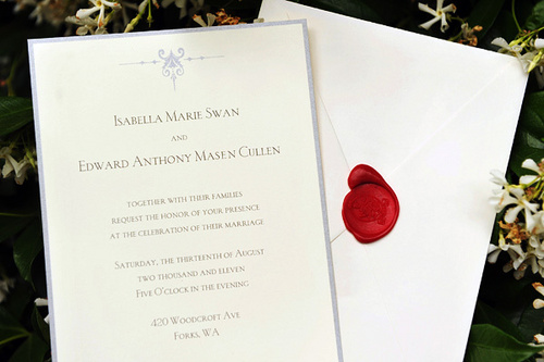"The wedding invitation from ""Breaking Dawn"""