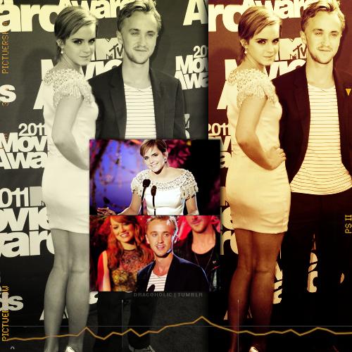 tom felton and emma watson mtv movie awards 2011. Tom amp; Emma [MTV Awards 2011